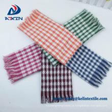 Plain tingido made in China 100% algodão orgânico linha listrada toalhas de chá
