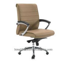 Brauner Leder Executive Stuhl mit gepolsterten Armen