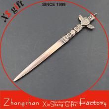 Abridor de cartas de espada de metal de bronze personalizado de alta qualidade