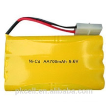 Ni-CD AA battery pack 9.6V 700mah