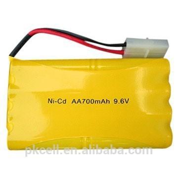 Bateria Ni-CD AA de 9,6V 700mAh