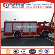 Dongfeng 5000liters espuma y tanque de agua de lucha contra incendios de camiones
