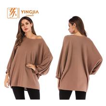 Lady Bat Long Sleeve Woman Plus Size Blouse