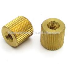 M2.5 tuerca de cilindro de grano recto de latón para controlador de temperatura