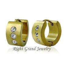 Fancy18K Gold Plated Crystal Hoop Earrings