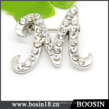 "Alloy ""M"" Alphabet Brooch China Wholesale # 5353"