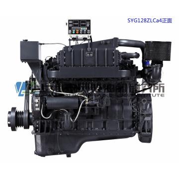 Marine G128, 254HP, 1800rmp, Shanghai Diesel Engine for Generator Set,