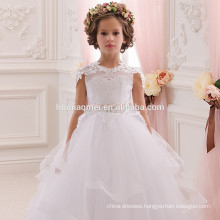 2016 new fashion A line spaghetti straps floor length flower girl dress patterns
