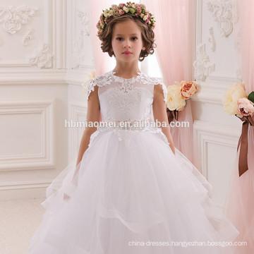 2016 new fashion A line spaghetti straps floor length flower girl dress patterns
