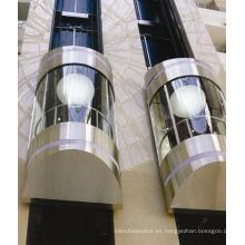 Sicher elevador panorámico de cristal de 630 kg