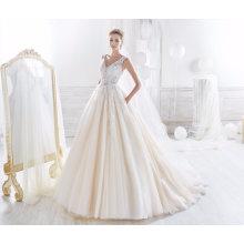 Laço tule princesa vestido de noiva vestido de noiva