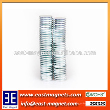 rare earth high quality powerful permanent 2mm thickness disc NdFeB Magnet