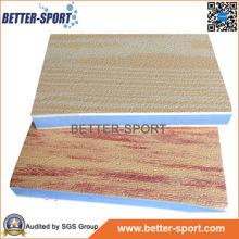 Madeira grão intertravamento EVA enigma tapete, EVA Taekwondo piso tapete em madeira cor