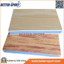 Madera de grano de bloqueo EVA rompecabezas Mat, EVA Taekwondo Piso Mat en color madera