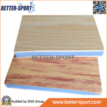 Wood Grain Interlocking EVA Puzzle Mat, EVA Taekwondo Floor Mat in Wood Color
