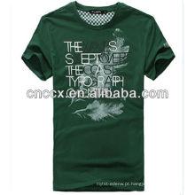 Impressão feita sob encomenda da camisa de t dos homens do algodão da forma 13ST1007 OEM