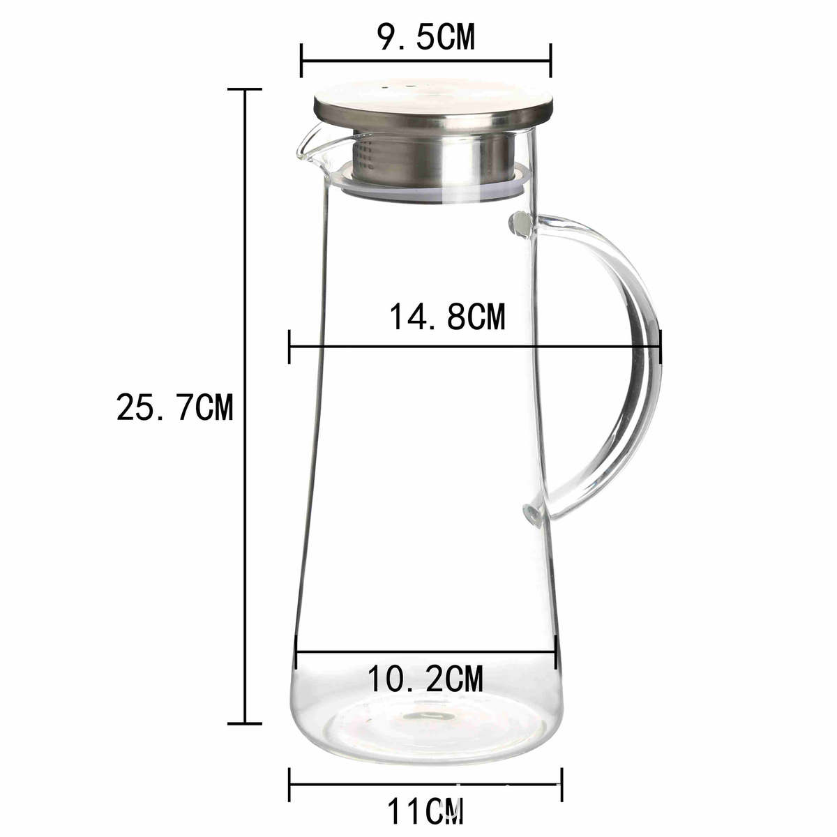 high borosilicate Glass heat cold resistant best quality coffee milk tea carafe pot maker pitcher with airtight stainless steel lid 00 (12)