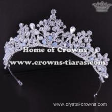 Gorgeous Alloy Wedding Tiaras With Handmade Crystal Beads