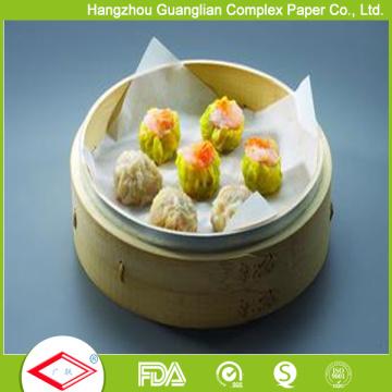 Perforiertes silikonisiertes Dampfpapier für gefüllte Brötchen Dim Sum Dämpfen