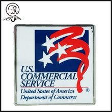US Department logo nameplate metal
