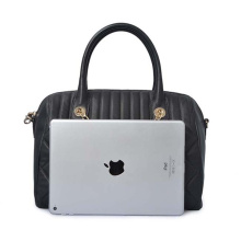 Personalized Soft Leather Tote Bag Macbook Unisex bag