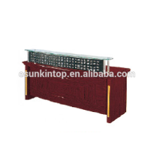 Glass reception desk for office used, Foshan office furniture manufacturer (T4831)