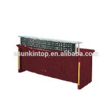 Mesa de recepção de vidro para escritório usado, fabricante de móveis de escritório Foshan (T4831)