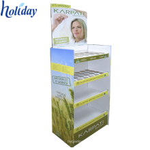 Carton Showcase Cardboard Floor Standing Maquillaje Display Stand