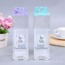 Plastique transparent de brosse de maquillage de Customizd avec la boîte d'emballage de PVC d'ANIMAL FAMILIER de trou