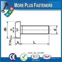 Feito em Taiwan DIN 85 Stainless Steel Slotted Pan Head Screw