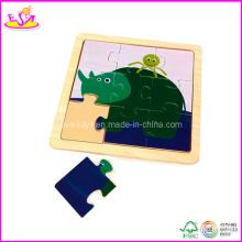 Puzzle de bébé de forme d'éléphant, fait de contreplaqué (W14C063)