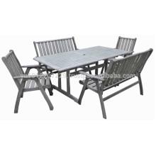 Meranti Outdoor / Gartenmöbel Set - Tisch + Stuhl & Bank