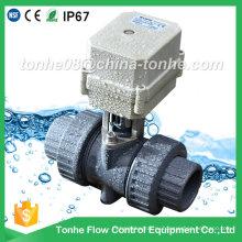 """Ce IP67 2-ходовой 3/4 """"электрический привод с механическим управлением ПВХ шаровой кран"""