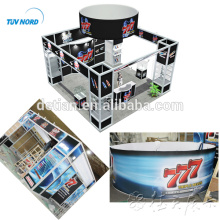 Detian Offer aluminium profiles PVC panel sticker exhibition booth with cabinets