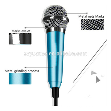 Latest smart mini cellphone microphone Handheld Wired Condenser Microphone for mobile phone for tablet PC