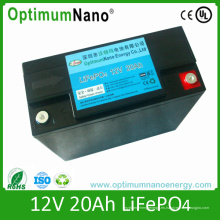 LiFePO4 Batería 12V 20ah Batería de litio recargable para UPS