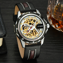Sliver case casual mechanical men sport watch