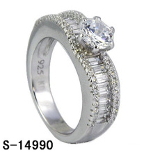 Neue Modeschmuck 925 Sterling Silber Ehering