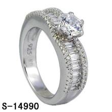 Nova moda jóias 925 anel de casamento de prata esterlina