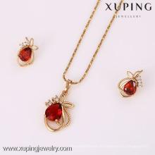 62107-Xuping Alibaba USA Stil Schmuck-Set Charms 18K Gold Schmuck