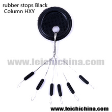 Fishing Rubber Stopper Black Column