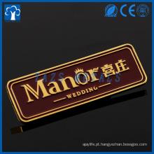Placas de nome de metal com logotipo personalizado