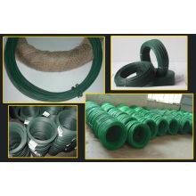 Fil en fer galvanisé électrolytique recouvert de PVC à différentes couleurs