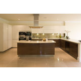 Modular Kitchen Cabinets High Glossy UV Door Design Kitchen Taps with Kitchen Faucet Modern Furniture Wooden Fashion Kitchen Cabinets