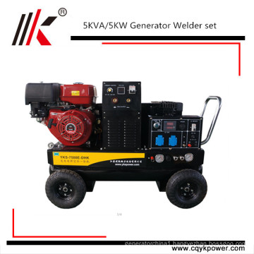 Factory direct sale price 5 kva gasoline generator welding machine diesel welder generator for sale