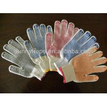 Tricoter des cordes pvc gants pointillés