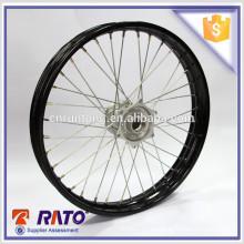 China Venta caliente 18 pulgadas de ruedas delanteras ligeras de la motocicleta con el freno de disco