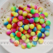 Customized Supplier for for plastic round beads Colorful Rainbow Dual Solid Color Jewelry Acrylic Beads supply to Tajikistan Wholesale