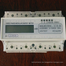 Drei-Phasen-Vier-Drähte Modulare Active-DIN-Rail-Energiezähler