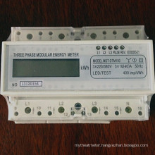 Three Phase Four Wires Modular Active DIN-Rail Energy Meter